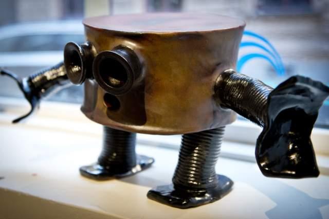 Robot från utställning i Sundsvall