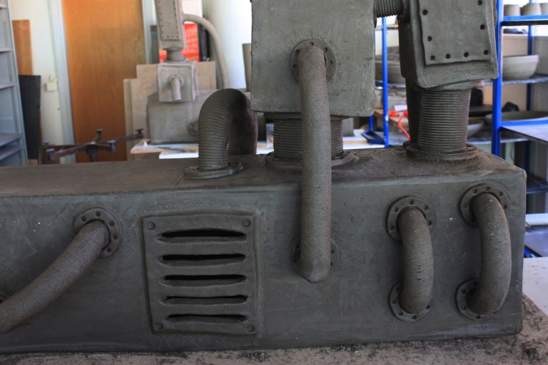 Maskin innan bränning