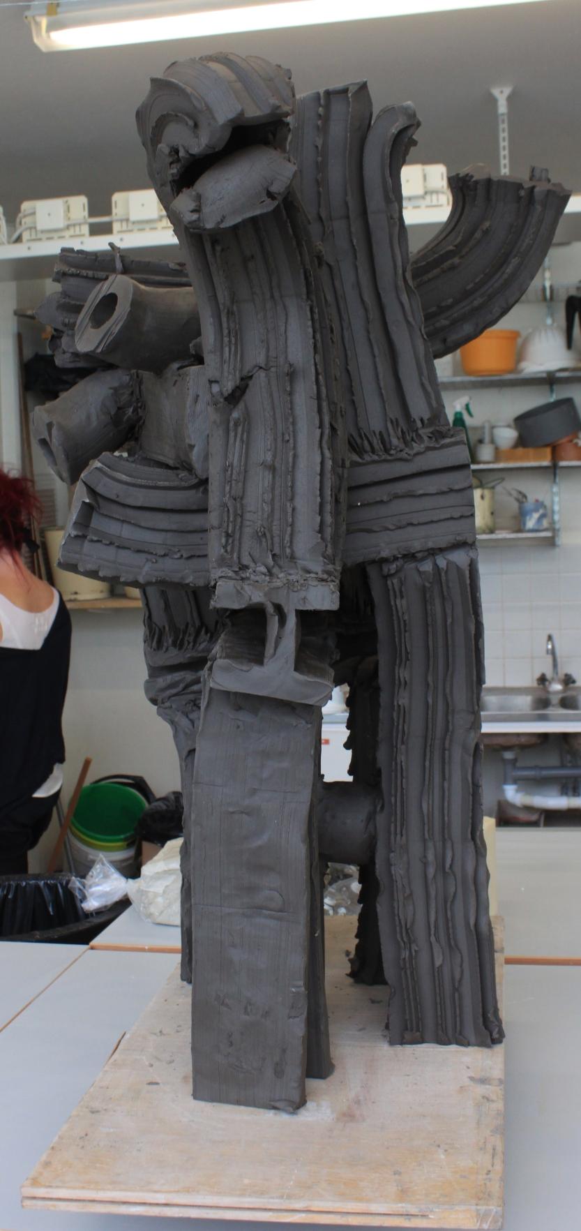 Skulptur innan bränning