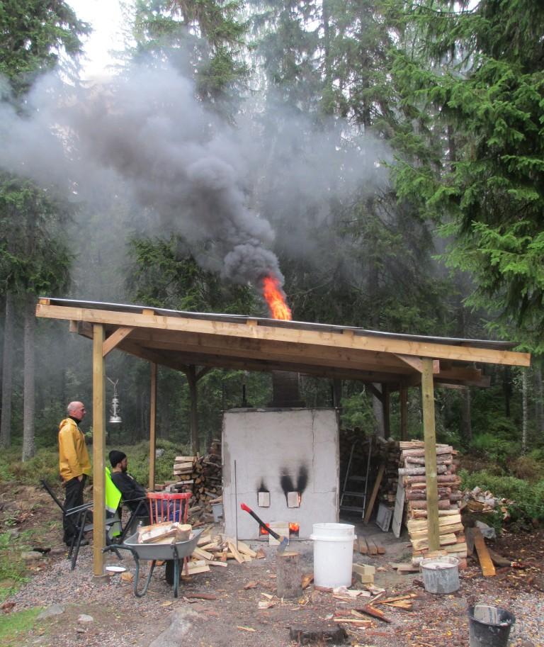 Bränning i vedeldad ugn, Bjässjön.
